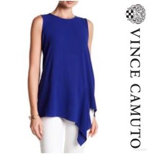 Vince Camuto Tank Top Blue Sleeveless XS NWT